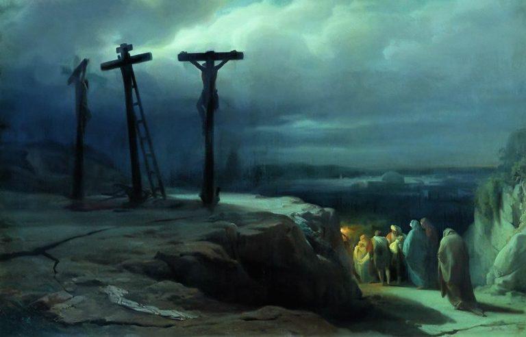 Schilderij dat de Kruisiging van Jezus verbeeldt