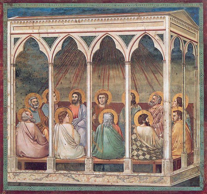 Meer informatie Pinksteren afgebeeld door Giotto (Padua)