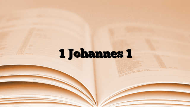 1 Johannes 1