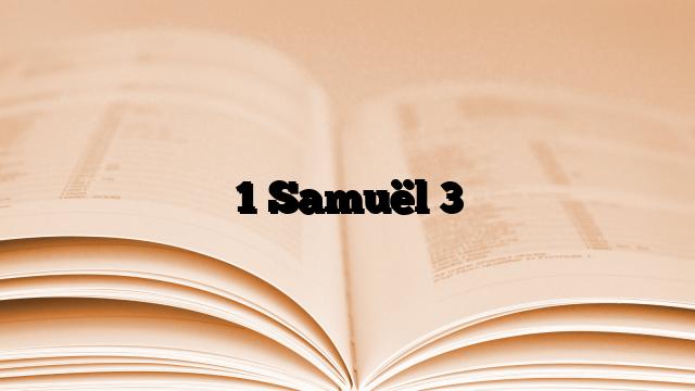 1 Samuël 3