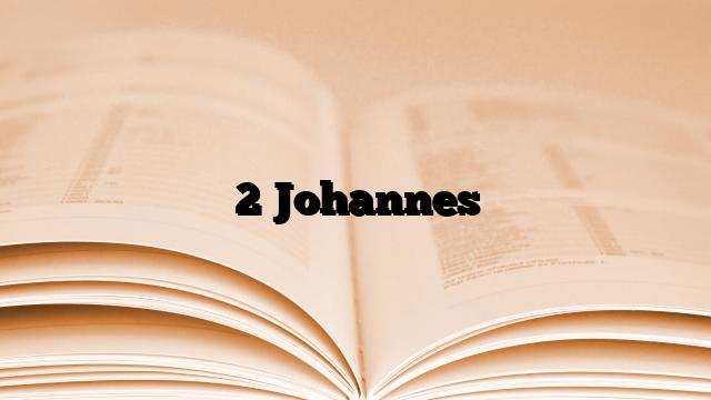 2 Johannes