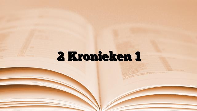 2 Kronieken 1