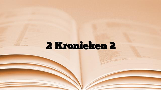 2 Kronieken 2