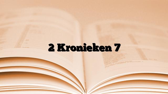 2 Kronieken 7