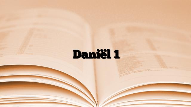 Daniël 1