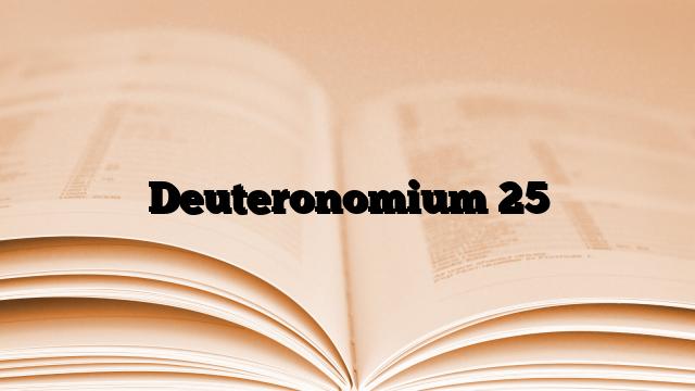 Deuteronomium 25