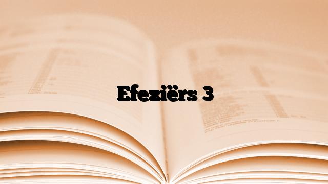 Efeziërs 3