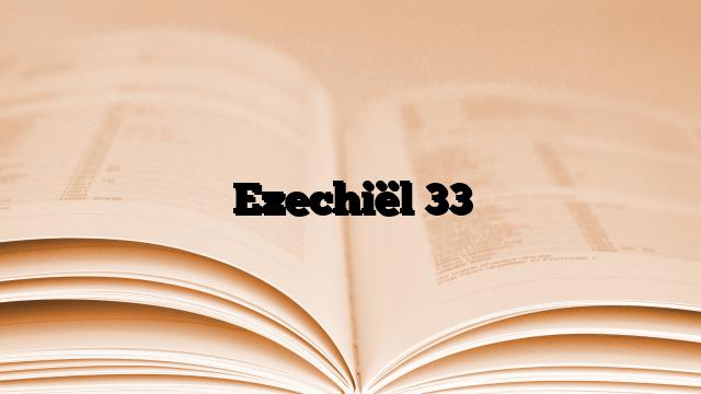 Ezechiël 33