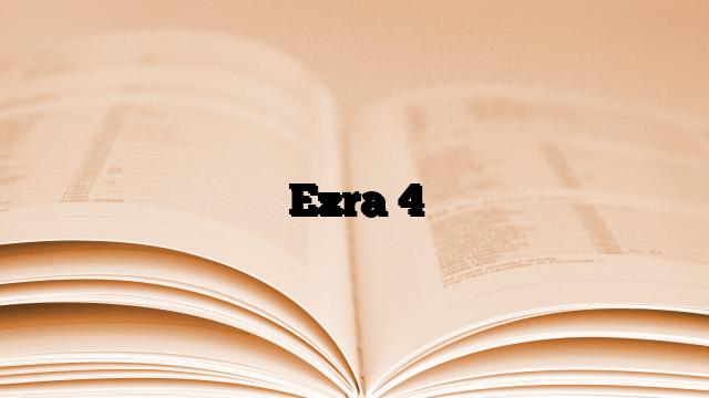 Ezra 4