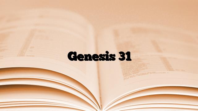 Genesis 31