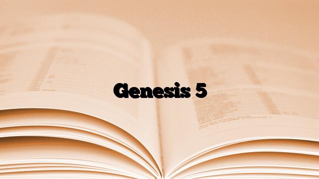 Genesis 5