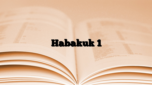 Habakuk 1