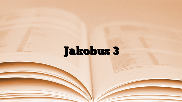 Jakobus 3