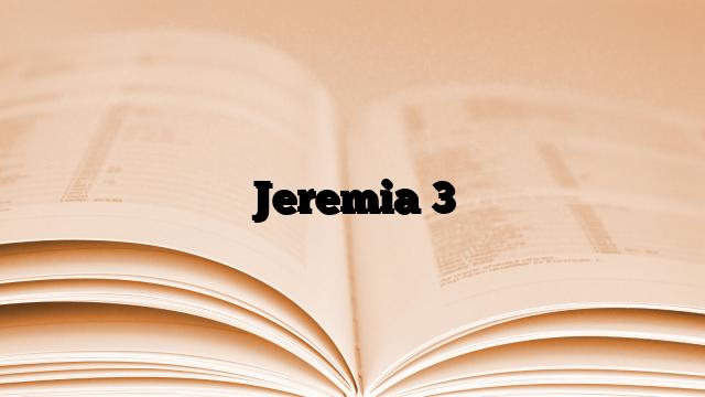 Jeremia 3