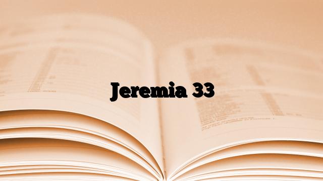 Jeremia 33