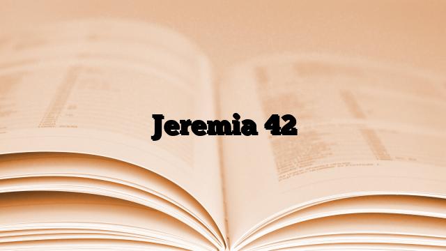 Jeremia 42