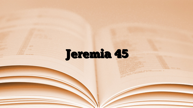 Jeremia 45