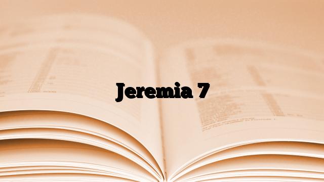 Jeremia 7