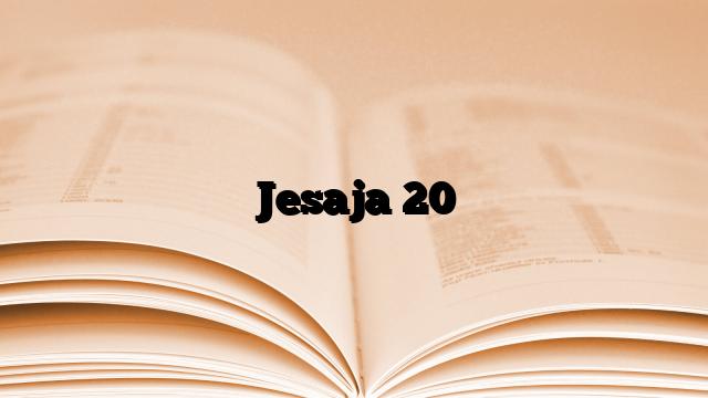 Jesaja 20
