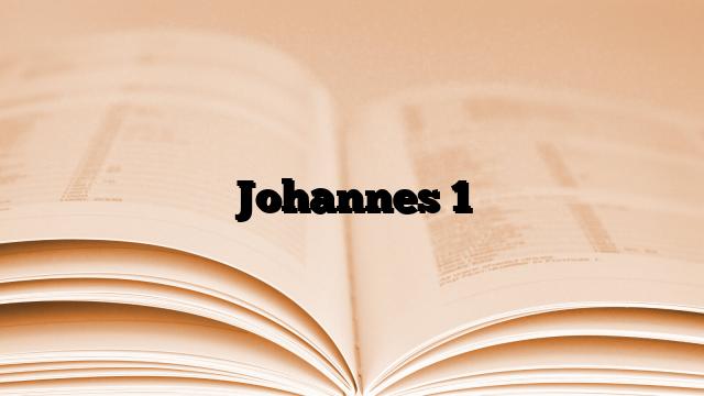 Johannes 1