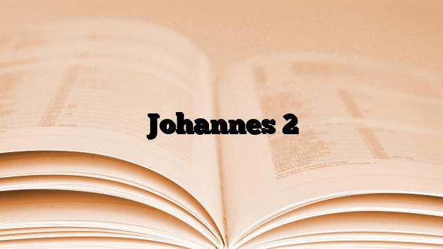 Johannes 2