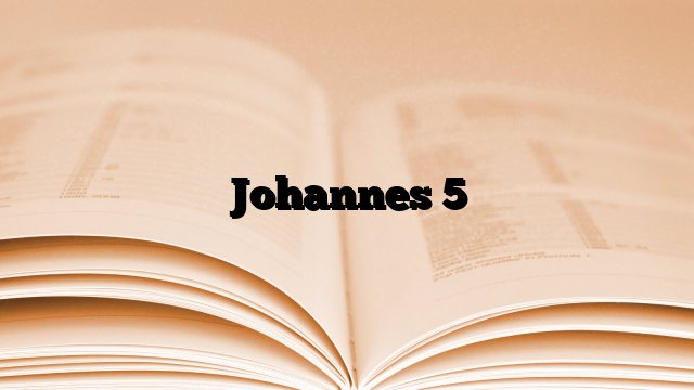Johannes 5