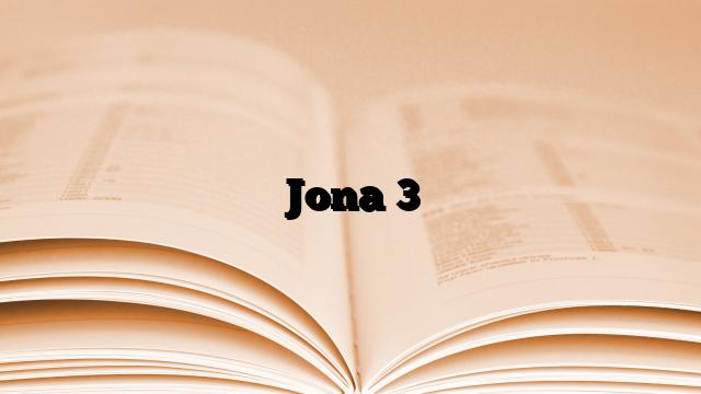 Jona 3