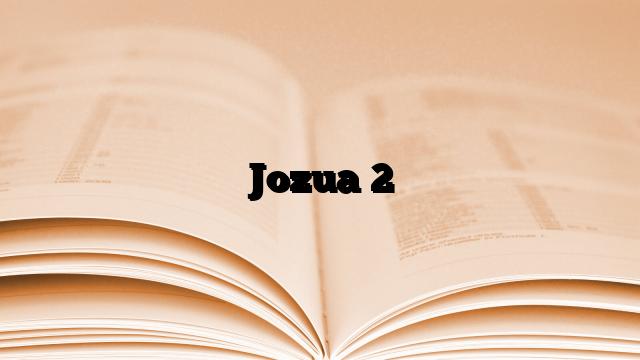 Jozua 2