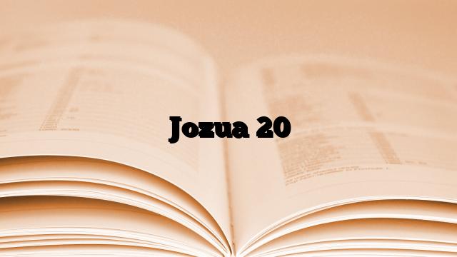 Jozua 20