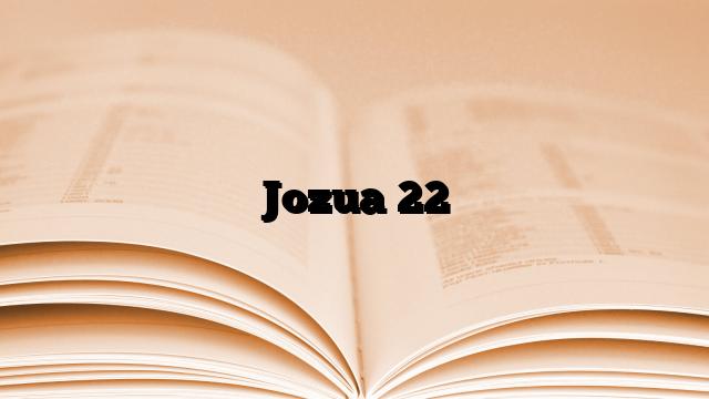 Jozua 22