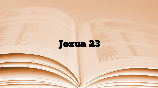 Jozua 23