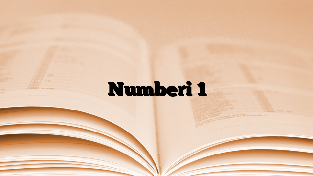 Numberi  1