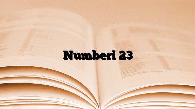 Numberi 23