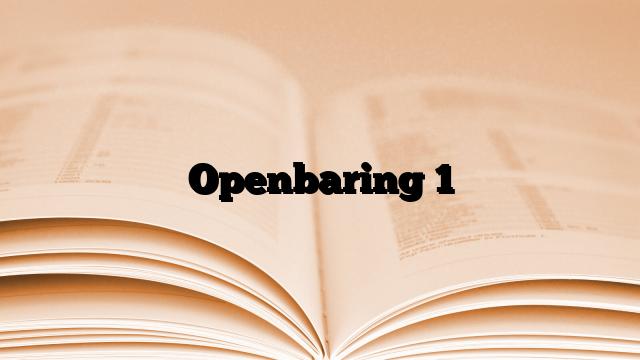 Openbaring 1