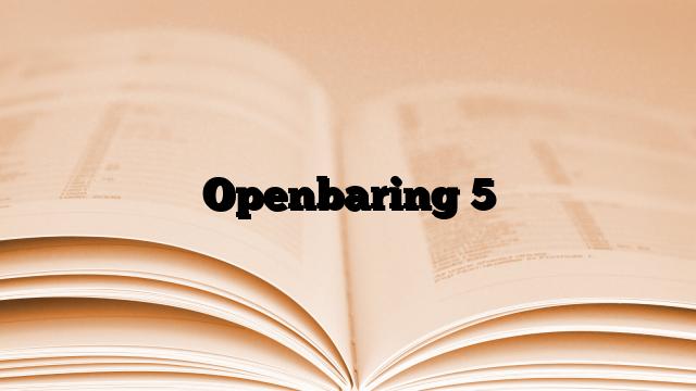 Openbaring 5