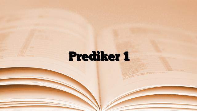 Prediker 1