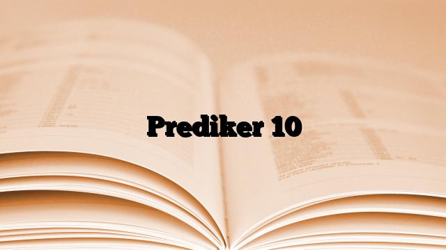 Prediker 10