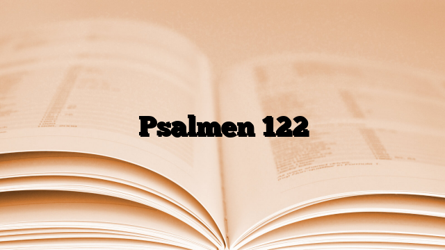Psalmen 122