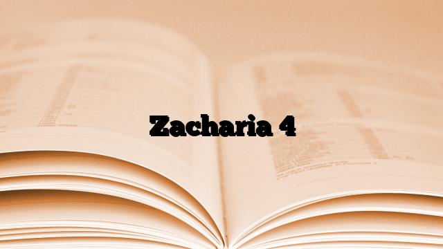 Zacharia 4