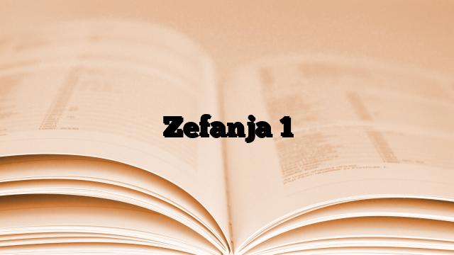 Zefanja 1