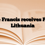 Pope Francis receives PM of Lithuania